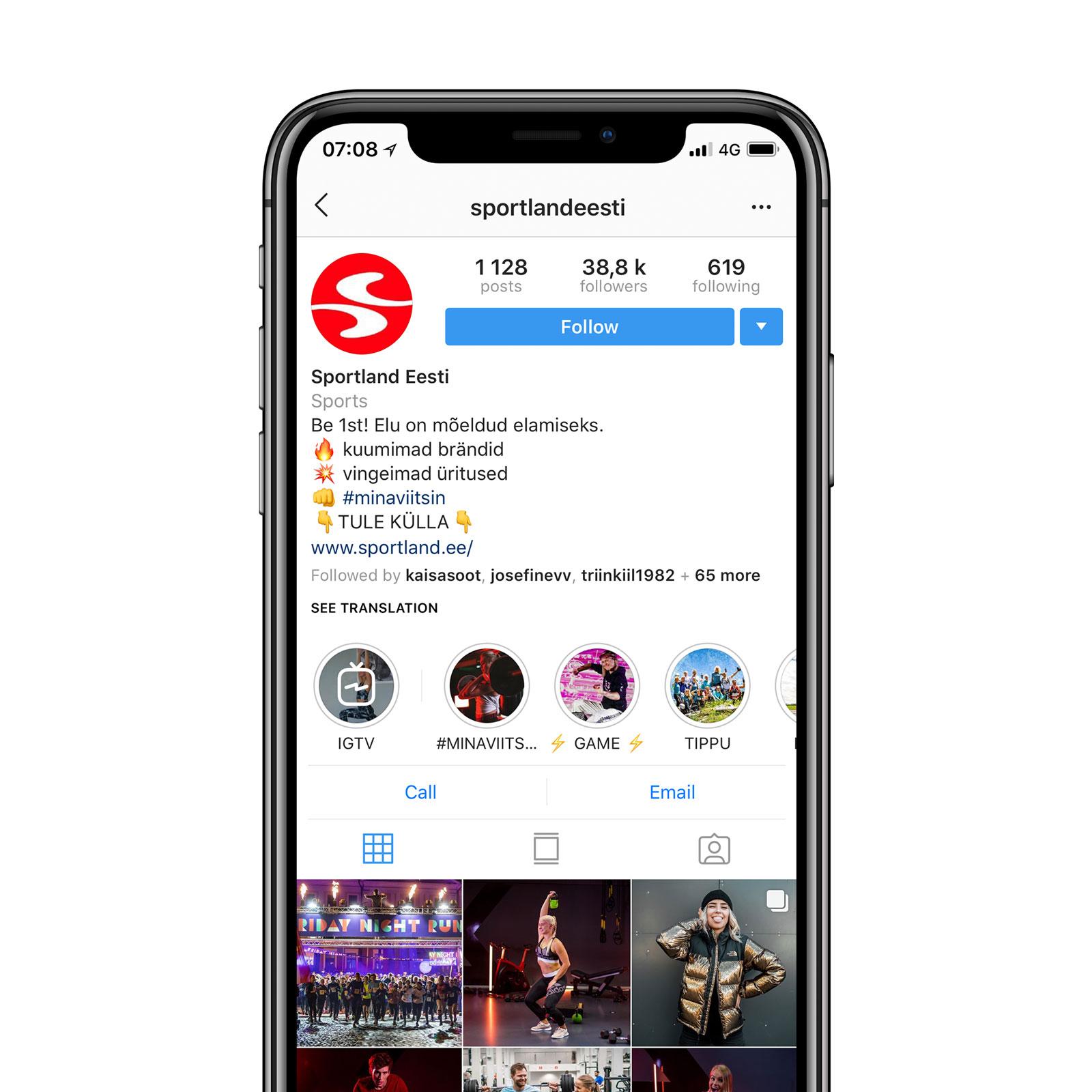 Sportland Instagram