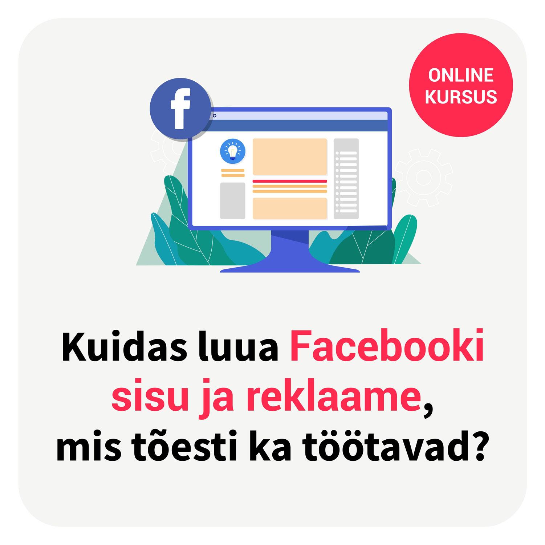 Facebooki reklaamid online koolitus